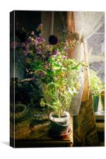 Vintage Classic Flower Still Life, Canvas Print