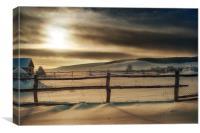 Visions of Sun Snow, Canvas Print