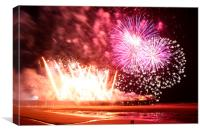 Blackpool Fireworks, Canvas Print