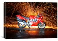 Ducati ST4 - Night shot, Canvas Print