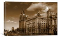 The Liver Building, Liverpool, UK, Canvas Print