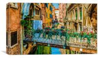 Lovely bridge, Canvas Print