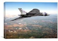 Vulcan's final flight over Sheffield, Canvas Print