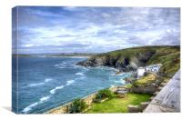 View from Lewinnick Lodge Pentire, Canvas Print