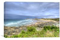 Storm clouds over Fistral Beach, Canvas Print