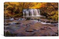 Waterfall, Brecon Beacons, Wales, Canvas Print
