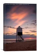 Burnham on Sea Lighthouse at sunset, Canvas Print