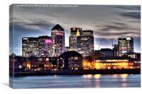 London Docklands at Dusk, Canvas Print