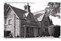 Port Church House, Y Felinheli , Canvas Print