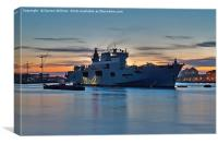 The Royal Navy HMS Ocean In London, Canvas Print