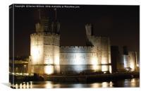 Caernarfon Castle at Night, Canvas Print