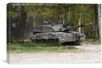 Challenger Tank on a mission, Canvas Print