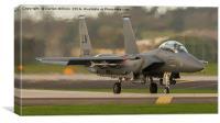 United States Air Force F-15E Departing RAF Lakenh, Canvas Print