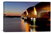 Thames Barrier As The Sun Sets, Canvas Print