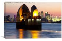 Thames Barrier Lone Protector, Canvas Print