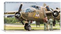 North American B-25 Mitchell with Crew, Canvas Print