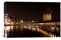 The Kapellbrücke, City of Lucerne, Canvas Print