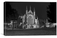 Winchester Cathedral at night, Canvas Print
