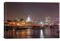 London Skyline at Night, Canvas Print