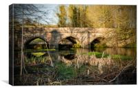 Summers Evening along the River Gade, Canvas Print