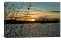 Sunset at Wilstone Reservoir, Canvas Print