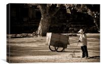 Phimai Worker, Canvas Print