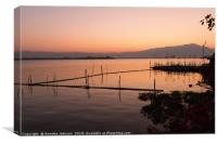 Sunset on Lake Phayao #2, Canvas Print