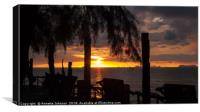Tropical Sunset #1, Canvas Print