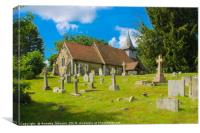 St Nicholas' is in Pyrford ('ford by a pear-tree'), Canvas Print