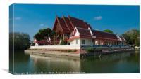 Wat Phra Narai Maharat, Canvas Print