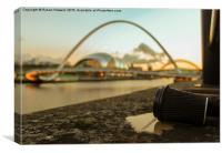 Millennium Bridge, Newcastle upon Tyne , Canvas Print