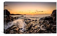 Sunset view, Canvas Print