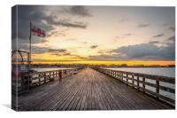 Pier Sunset, Canvas Print