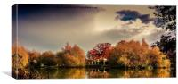 Autumn lake, Canvas Print