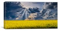 Patterns in the clouds, Canvas Print