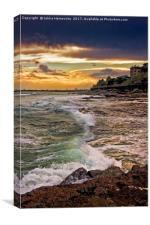 Sunset Waves In Caloundra, Canvas Print