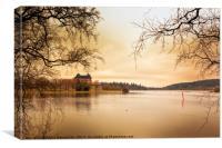 Castle, Lake and Goldeneye, Canvas Print