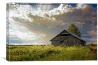 Summer Clouds Over The Barn and Fields, Canvas Print