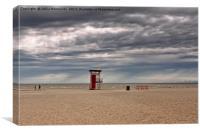 Rain Clouds Over The Beach, Canvas Print
