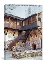 Wooden Stairs At The Turku Castle, Canvas Print