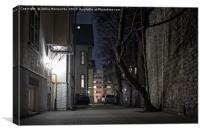 Dark Yard In Tallinn, Canvas Print