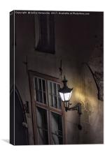 Old Lantern On The Wall, Canvas Print