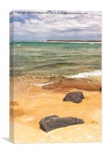 Two Rocks On A Beach, Canvas Print