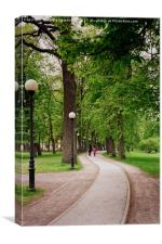Walking At The Kadriorg Park, Canvas Print