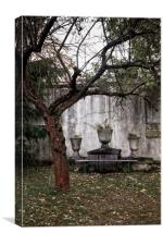 Altar by the tree, Canvas Print