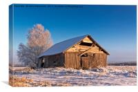 Cold Morning On The Winter Fields, Canvas Print
