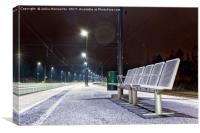 Empty Seats at the Railway Station, Canvas Print
