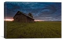Old Barn House Under The Dramatic Summer Skies, Canvas Print