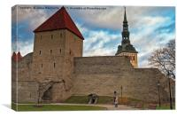 Tourists At The Old Town Of Tallinn, Canvas Print