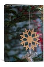 Snowflake On A Christmas Tree, Canvas Print